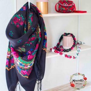 Mariochka foulard slave noir