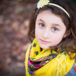 foulard jaune enfant mariochka