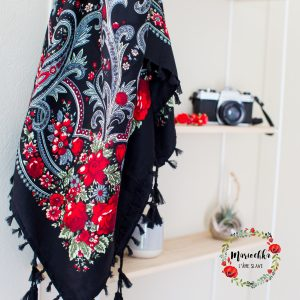 foulard noir et rouge