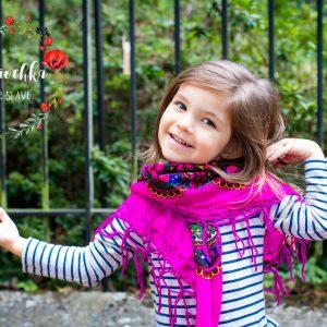 foulard fushia enfant mariochka