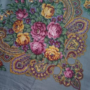 foulard gris prune