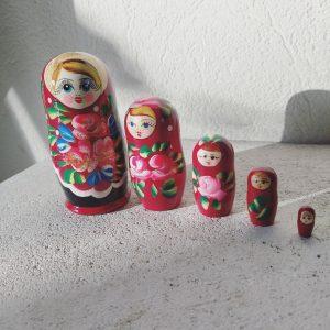 Matriochka Poupee russe Rouge