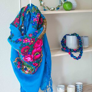 foulard slave turquoise mariochka