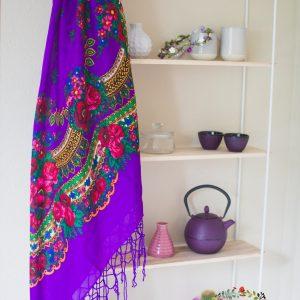 mariochka-foulard violet