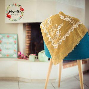 Mariochka-foulard slave jaune moutarde