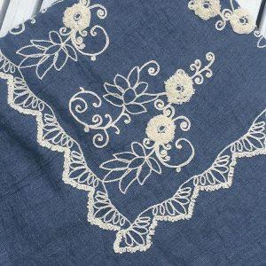 foulard mariochka brode bleu